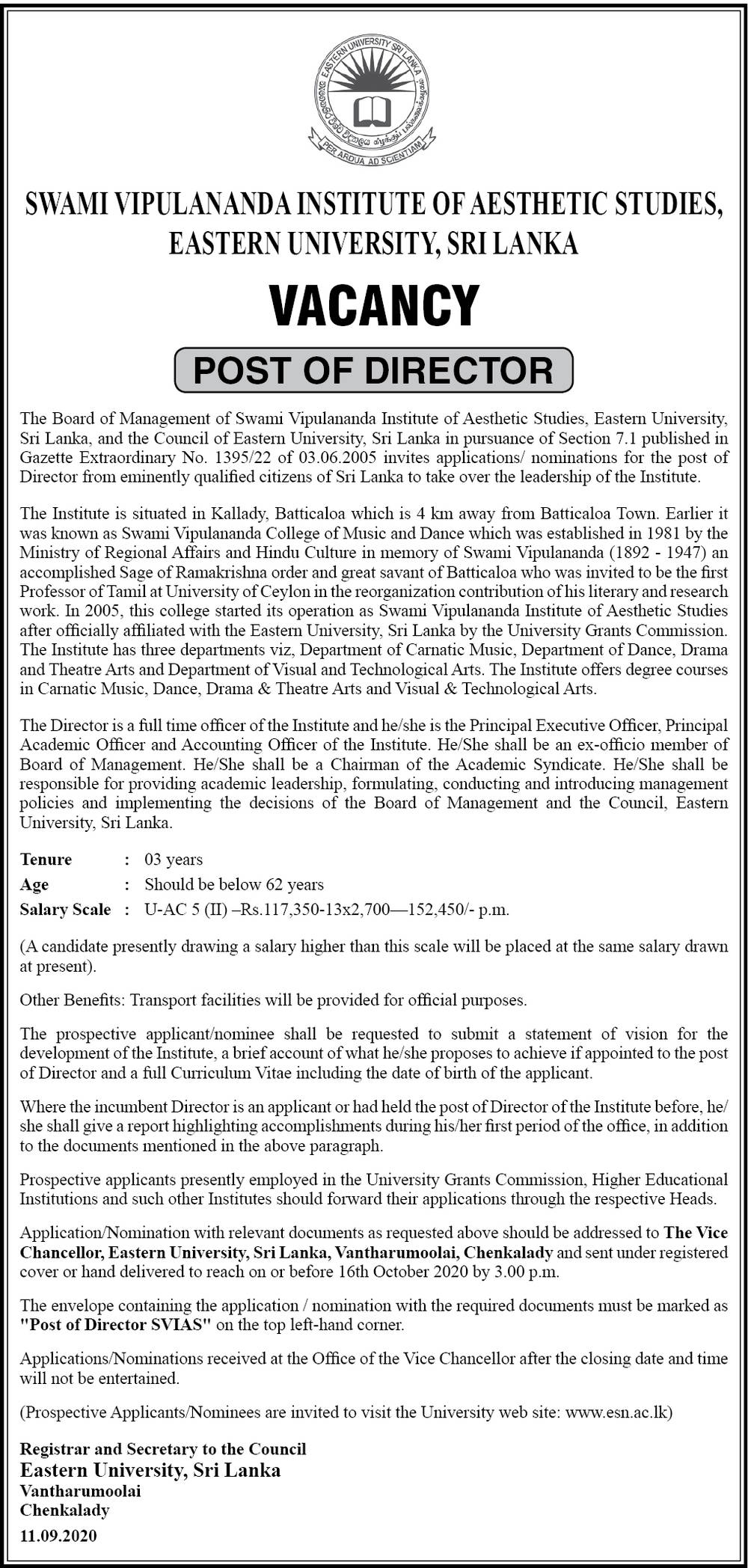 Sri Lanka Export Development Board Vacancies